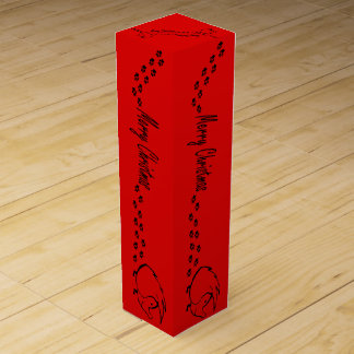 Christmas Hedgie Wine Gift Box