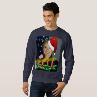 christmas hillary clinton mens sweatshirt
