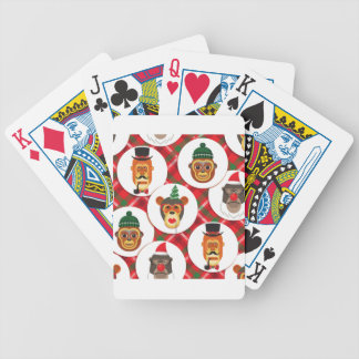christmas hipster monkeys bicycle playing cards