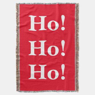 Christmas Ho! Ho! Ho! Throw Blanket