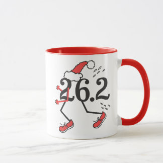 Christmas Holiday 26.2 Funny Marathon Runner Mug