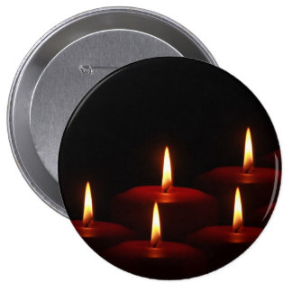 Christmas Holiday Advent Candle Flames Pins