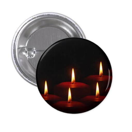 Christmas Holiday Advent Candle Flames Buttons