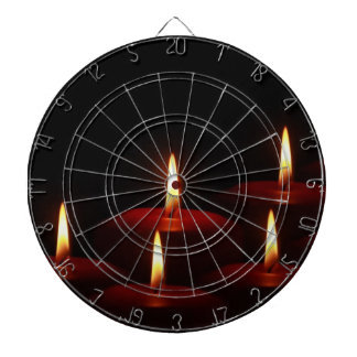 Christmas Holiday Advent Candle Flames Dart Boards