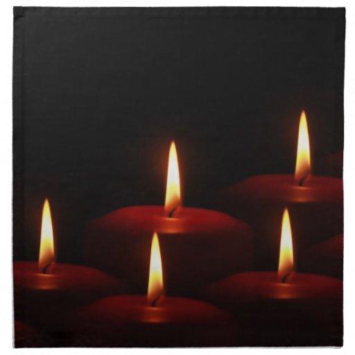 Christmas Holiday Advent Candle Flames Napkins