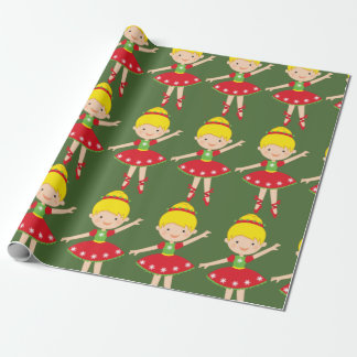 Christmas Holiday Ballerina Wrapping Paper