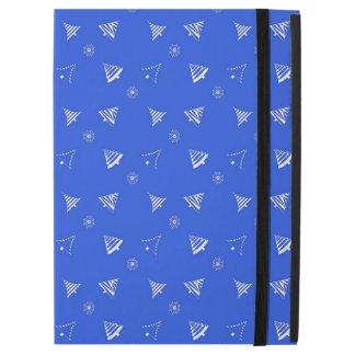 "christmas holiday blue pattern iPad pro 12.9"" case"