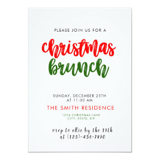 Christmas Holiday Brunch Invitation Card