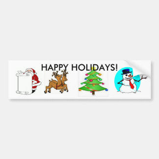Christmas Holiday Bumper Sticker