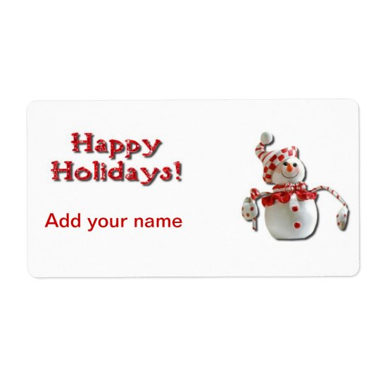 Christmas Holiday Candy Cane Wrapper Labels