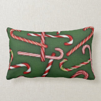 Christmas Holiday Candycane pattern pillow