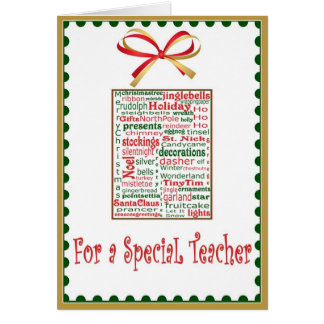 Christmas Holiday Card for Teacher