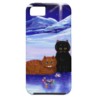 Christmas Holiday Cat Mouse Christian Religious iPhone 5 Cover