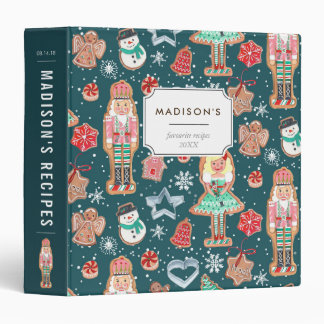 Christmas Holiday Cookies | Custom | Recipe Binder