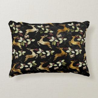 Christmas Holiday - Deer & Mistletoe Decorative Pillow