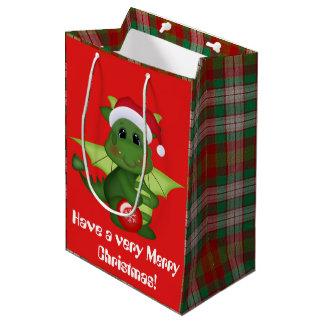 Christmas Holiday Dragon kids gift bag