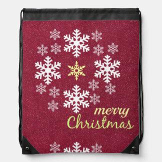 Christmas Holiday Drawstring Backpack Giftbag