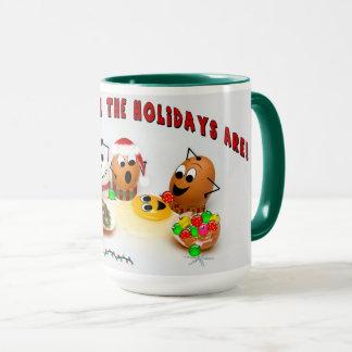 Christmas Holiday Egg's Having Fun Mug - Humor