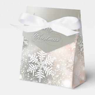 Christmas Holiday Elegant Snowflake Party Favor Box