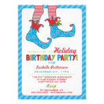 Christmas Holiday Elf Birthday Party Invitation