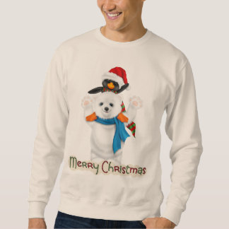 Christmas Holiday friends mens sweatshirt
