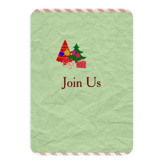 Christmas Holiday Get Together Party Invite