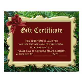 Christmas Holiday Gift Certificate Printing 2-Side Flyer