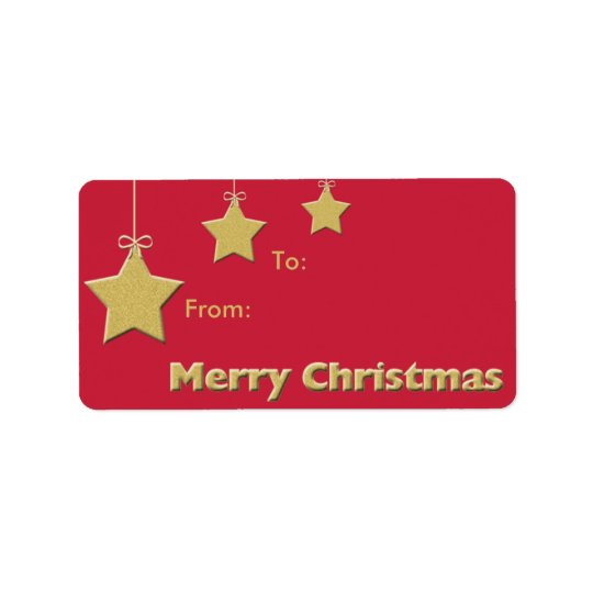 Christmas Holiday Gift Tag -- Christmas Stars