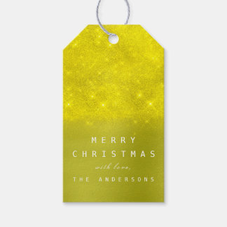Christmas Holiday Gift Tag Yellow Mint Olive Canar