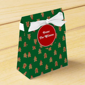 Christmas Holiday   Gingerbread Men Wedding Favor Box