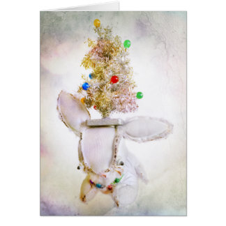 Christmas Holiday Greeting Card with Aldo a rabbit