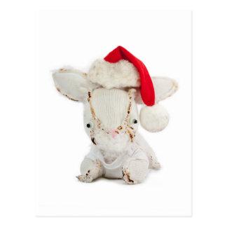 Christmas Holiday Greeting Card with Aldo a rabbit Postcard