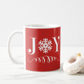 Christmas Holiday Joy Snowflake Mug Gift