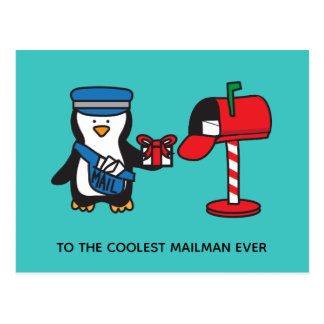 Christmas Holiday Mailman Mail Lady Postal Worker Postcard