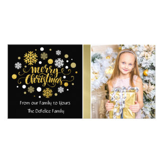 Christmas Holiday - Merry Christmas Shimmer Photo Card Template