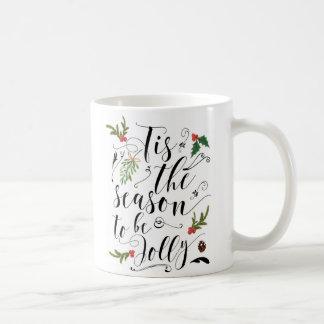 Christmas holiday mug tis the season to be jolly