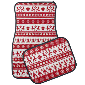 Christmas Holiday Nordic Pattern Cozy Car Mat
