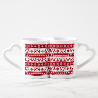 Christmas Holiday Nordic Pattern Cozy Coffee Mug Set
