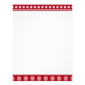Christmas Holiday Nordic Pattern Cozy Custom Letterhead