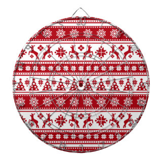 Christmas Holiday Nordic Pattern Cozy Dartboard