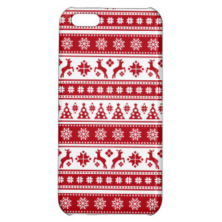 Christmas Holiday Nordic Pattern Cozy iPhone 5C Cover