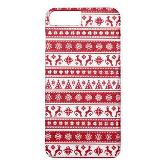 Christmas Holiday Nordic Pattern Cozy iPhone 7 Plus Case