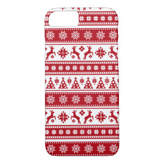 Christmas Holiday Nordic Pattern Cozy iPhone 8/7 Case