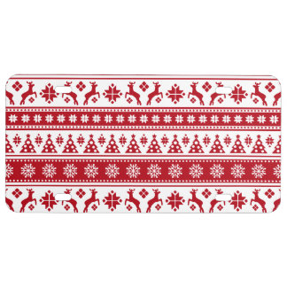 Christmas Holiday Nordic Pattern Cozy License Plate