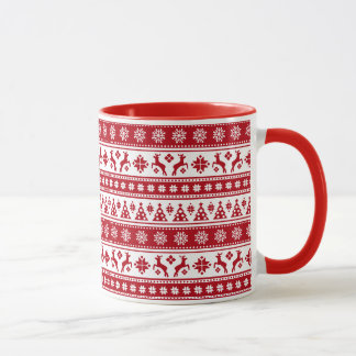 Christmas Holiday Nordic Pattern Cozy Mug