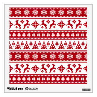 Christmas Holiday Nordic Pattern Cozy Wall Sticker