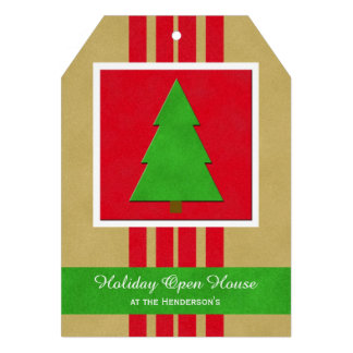 Christmas Holiday Open House Tree Invitation