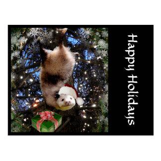 Christmas Holiday Opossum Postcard