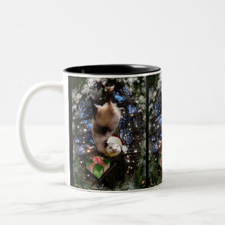 Christmas Holiday Opossum Two-Tone Coffee Mug