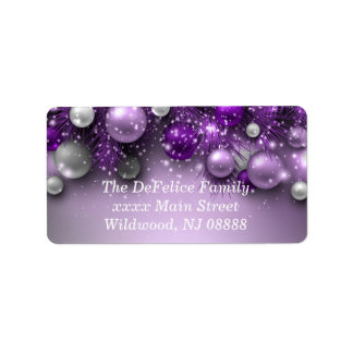 Christmas Holiday Ornaments - Purples
